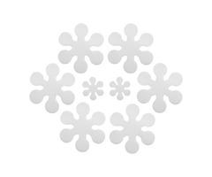 8Pcs Snowflake Shape Anti Skid Waterproof Bath Tub Treads Bathroom Stickers Decorations