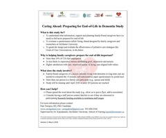 Caring Ahead: Family Caregivers of Persons with Dementia Study