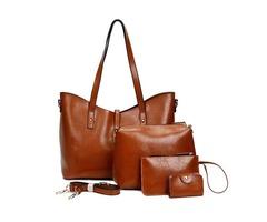 Women Faux Leather Four-piece Set Handbag Shoulder Bag