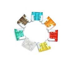 100 Pcs Colorful Autos DIY Medium Low Profile Car Fuse Box Kit