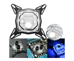 S SKYEE 9cmx9cmx2cm LED CPU Water Block Waterblock for INTEL Cooling