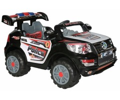 12V Child Ride on POLICE CAR  with Ignition Sound Remote, Songs, Doors