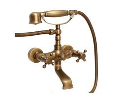 Retro Antique Bronze Bath Tub Faucet With Shower Head Spout Mixer Tap Wall Mount