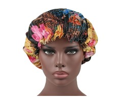 Women Vintage Ethnic Floral Breathable Beanie Cap Turban
