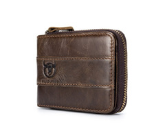 Bullcaptain Wallet RFID Genuine Leather Wallet