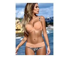 Polyester With Rim Bikinis Plus Size Swimwear Swimwear (30015381826)