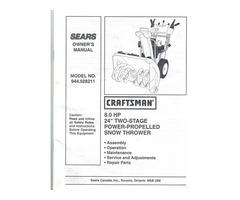 For sale Craftsman 8 HP snowblower,