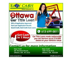 Apply Now - Eazy cash payday loan in Ottawa