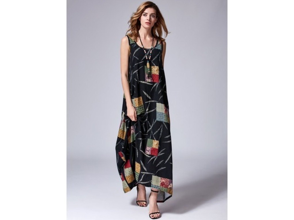 Sleeveless Maxi O Dress (1955123448). Arabian Cotton Blends General O Dress Multicolor Day Dresses As Picture Casual Round Neckline Maxi XS Sleeveless S M L X... | free-classifieds-canada.com