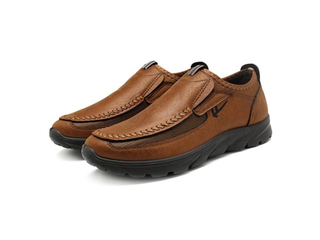 Menico Casual Comfy Soft Moc Toe Slip On Leather Oxfords | free-classifieds-canada.com