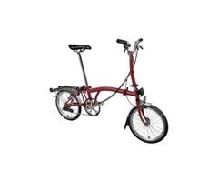 Brompton M6R 2020 Folding Bike House Red