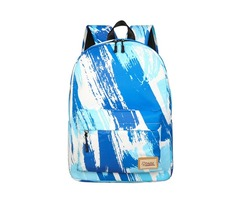 Canvas Backpack School Bag Camping Travel Bag Waterproof Graffiti 14 Inch Laptop Bag Shoulder Pack