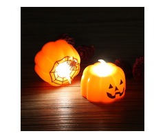 Halloween Light LED Pumpkin Lamp for Party Decoration Pumpkin Candy Sweet Holder Decorations