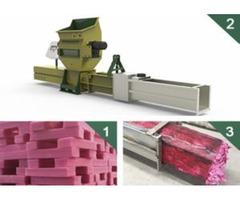 PE foam recycling machine GreenMax Zeus C100