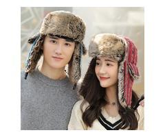 Mens Womens Plus Velvet f Earmuffs Trapper Hat
