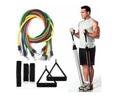 Superb 11pcs/set Pull Rope Fitness Exercises Resistance Bands for sale