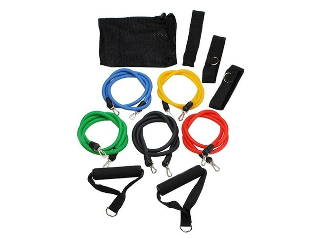 (11pcs//set) Pull Rope Fitness Exercises Resistance Bands for sale   free-classifieds-canada.com
