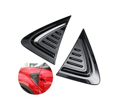 Pair 3D Carbon Fiber Car Side Wing Air Vent Fender Cover Trim Stickers Decor for Toyota C-HR 17-18