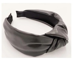 Pleather Headbands Black or White