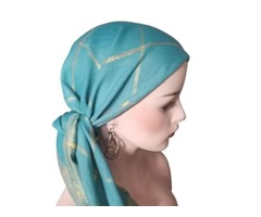 Squared Pattern Head Scarf Square