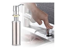 Sliver Stainless Steel Liquid Soap Dispenser Bathroom Kitchen Sink Pump Bottles