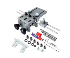 3 In 1 Dowelling Jig 6/8/10mm Wood Drilling Guide Locator Adjustable Dowel Jig Kit For DIY Woodworki
