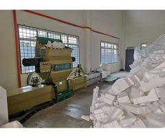 Styrofoam Recycling machine of GREENMAX styrofoam compactor A-C100