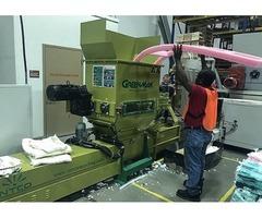 Polyethylene foam recycling by using machine Zeus-C200