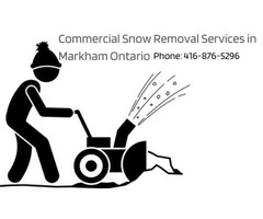 Commercial Snow Removal Services in Markham Ontario