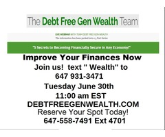 FREE Webinar -5 Secrets to Becoming Financially Secure!
