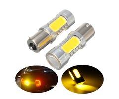 2Pcs 1156 BAU15S PY21W 7.5W LED COB Car Turn Signal Backup Lights Bulb Lamp Amber 12V