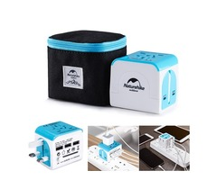 Naturehike NH18P001-J 100V-240V Travel Power Adapter Universal USB Electric Converter US Euro UK AU
