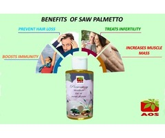 Saw Palmetto oil Benefits for Hair Regrowth - Buy Online