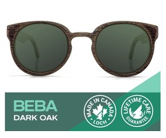 Beba Dark Oak Sunglasses with Polarized Lenses