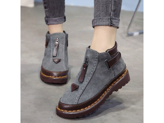 Buckle Closed Toe Flat Heel Shoes (1625333299) | free-classifieds-canada.com